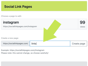 Create as many new link pages as you need.