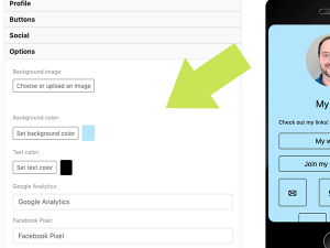 Customize your page with colors and images, and add your own tracking for better analytics.
